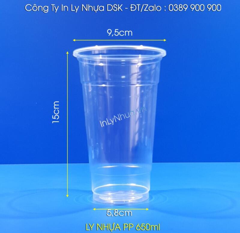 Ly nhựa 650ml