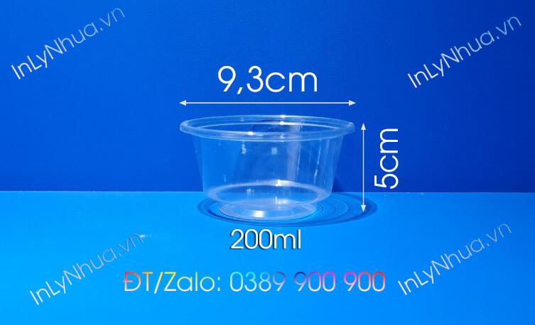 Ly nhựa 200ml